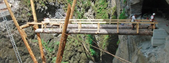 Brücke für Steganlage Kitzlochklamm